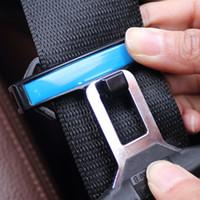 hebilla de cinturón de cierre al por mayor-Asiento de coche Clip de cinturón Cierre automático Cinturón de seguridad Hebilla Regulador de elasticidad Cinturón de fijación Clip Accesorios del vehículo Envío expreso
