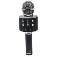 микрофон для караоке-микрофона оптовых-Wireless Karaoke WS858 Bluetooth Mini Home KTV Microphone Portable Player MIC Speaker Record Music Speaker Player Smart PHONE PC