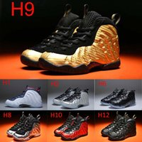 Wholesale pink dr brown - Youth Pro Metallic Gold Dr Doom Royal Kids Basketball Shoes Girl Boy Penny Hardaway Basket Ball Trainers Shoes Sport Sneakers 11C-3Y