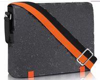 Wholesale vintage leather briefcase laptop - 2018 brand designer Men District Handbag Black Briefcase Laptop Shoulder Bag cross body bag school bookbag Messenger Bag purseN42420