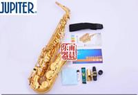 musikinstrumente am neuesten großhandel-Neueste Professionelle JUPITER JAS-567 GL Altsaxophon E Flat Sax Musikinstrumente Goldlack Mutter Pearl Altsaxophon