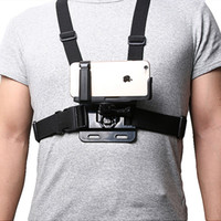 Wholesale Universal Phone Clip Holder with Gopro Chest Belt Head Strap for iPhone Samsung Huawei xiaomi smartphone for Climbing Cycling