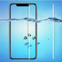 iphone vollbildschirm großhandel-Für iPhone X Premium Soft Displayschutzfolie Schutzfolie Für iPhone 7 8 Plus 3D Full Cover Anti-Burst Anti-Scratch Anti-Fingerprint Großhandel