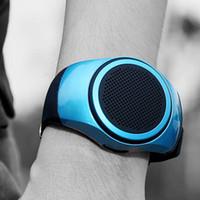 tf часы цена оптовых-ZZYD B20 мини bluetooth динамик бас смарт-часы Bluetooth Беспроводной универсальный для музыкальный плеер с TF карты DHL бесплатно лучшие цены