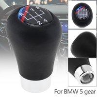 siyah deri vites topuzu toptan satış-ABS Plastik + Deri Siyah Araba Için Manuel Vites Hentbol Topuzu BMW 1 3 5 6 Serisi / 5 Dişli Modelleri CIA_307