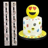 fırında yüz toptan satış-Karikatür Emoji Bisküvi Kalıp Sevimli Yuvarlak Gülümseme Yüz Çerezler Kalıp Kek Dekorasyon Mutfak Pişirme Aracı 3 5zy C