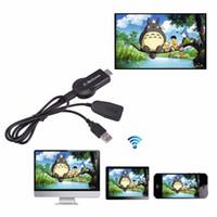 av hdmi führen großhandel-Mirascreen OTA TV Stick Dongle EasyCast EZCast Wi-Fi Display Receiver DLNA Airplay Miracast Airmirroring Full HD 1080P Receiver