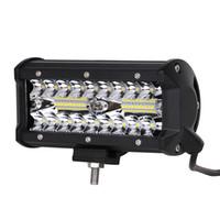 spot lights venda por atacado-ECAHAYAKU 1 pcs 120 W Led Barra de Luz de Trabalho 7 polegada para Caminhão Off-Road Trator Barco Suv Atv Spot Inundação Combo 12 V 24 V luzes de condução
