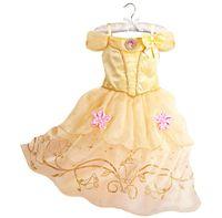 4t halloween kostüme großhandel-Kleid für Kinder Kostüm Rapunzel Party Brautkleid Kostüm Kinder Mädchen Prinzessin Kleid Belle Dornröschen Aurora Kostüm