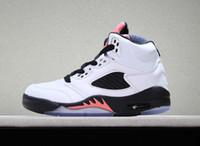 детей оптовых-дизайнерская обувь 5s дети баскетбол обувь спортивная обувь Крылья тренеры международный рейс Чикаго красный 5 спортивные детские кроссовки размер 28-35