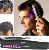 Wholesale hair loss massager online - 1pc Electric Laser Hair Growth Comb Hair Brush Laser Hair Loss Stop Regrow Therapy Comb Ozone Infrared Massager Drop Shipping