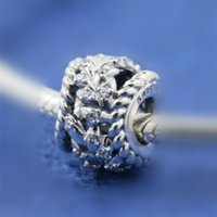 Wholesale swirl bracelet resale online - 100 Authentic S925 Sterling Silver DAZZLING GRAIN SWIRLS Charm Bead Fits European Pandora Jewelry Bracelets Necklaces