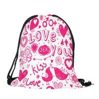 b4c6c495ad 2018 New Fashion Drawstring Shoulder Bags Valentine s Day Bag Women Sack  Sport Gym Travel Outdoor Backpack Shoulder Bags