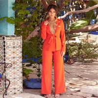 fliegen für frauen großhandel-Neue Fliege Blazer Anzug Solide Einfache Frauen Hosen Anzüge Zweiteilige Sets Dünne Jacke Lange Hosen Weibliche Hohe Qualität Dame Anzug