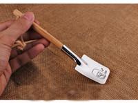 cucharas de lujo al por mayor-Elegante de acero inoxidable lindo parejas sandía pala forma cuchara vajilla herramientas para el día de san valentín decoración regalos venta caliente 10zr Z