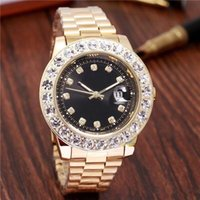 Wholesale luxury watches perpetual - 2018 relogio Luxury Mens Brand Men Watch Big Diamonds Day-Date Brand Stainless Steel Perpetual President Automatic Diamond Wristwatch