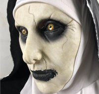 Wholesale halloween costume white mask for sale - Group buy Halloween The Conjuring Sister Latex Mask Cosplay Costume Accessories Funny Mask Party Pranks Unisex Mask