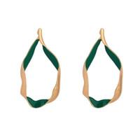 indische mode ohrring reifen großhandel-Vintage Gold Farbe Twisted Big Creolen Frauen Geometrische Kreis Ohrringe Indischen Zink-legierung Modeschmuck Großhandel