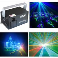 Wholesale Ilda Rgb - NEW 2000MW RGB Full Color Animation laser light with SD Card ILDA DMX interface ,holiday laser light