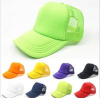 Wholesale advertising caps - Customized Advertising baseball cap Sun hat Peaked cap Pure color mesh cap custom LOGO For Adult free shipping
