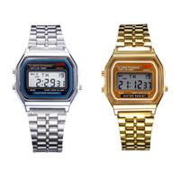 frete grátis led wristwatches venda por atacado-Best Deal Retail Atacado Relógios De Pulso Frete Grátis F-91W Relógios f91 Moda-fino LED Mudança Relógios F91 W Esporte Assista