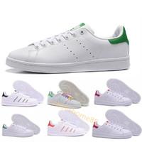 shoe al por mayor-Los hombres de las mujeres de calidad superior nuevo stan zapatos de moda smith sneakers Zapatos casuales de cuero deporte pisos clásicos