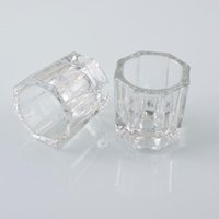 nagelkunst glas dappen teller großhandel-Kristallglas Dappen Dish / Deckel Bowl Cup Kristallglas Dish Nail Art Werkzeuge Acryl Nail Art Ausrüstung Mini Bowl Cups F1141