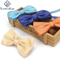 Wholesale birthday party business - Business Men Bow Tie Fashion Ceremonial Birthday Wedding Groomsman Party Performance Occasion Decoration Polka Dots Ties Gift 4yf hh