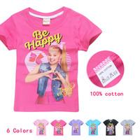 Wholesale teens summer clothes online - 2018 Hot Sale Children s Fashion Teens T Shirt Girls Jojo Siwa Clothing Casual Sunmmer Short Sleeves Tops Cartoon