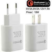 Wholesale tablet 3a for sale - New V A V A V A QC Eu US Fast quick charge Ac home travel wall charger power adapter for iphone x samsung s7 s8 tablet pc