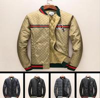 Wholesale Windbreaker Button Down - New Italy Luxury Fashion Brand coats Print Long Sleeve Hooded Jacket Men's Casual Windbreaker Jackets Tiger Printing Man Clothing M - 3XL