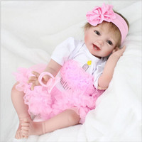 Wholesale rubber dolls sale for sale - Group buy 55cm Hot Sale Solid Silicone Reborn Baby Dolls Lifelike Baby Soft Dolls Fashion doll Girl Christmas new year gift