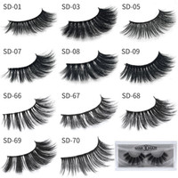 Wholesale beauty makeup tools - 3D Mink Eyelashes Eye makeup Mink False lashes Soft Natural Thick Fake Eyelashes D Eye Lashes Extension Beauty Tools styles DHL Free