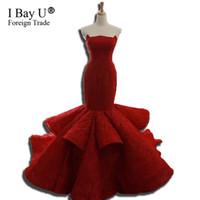 Kaufen Sie Im Grosshandel Arabische Brautkleider Rot 2019 Zum Verkauf