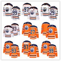 Wholesale ryan nugent hopkins - 2018 Edmonton Oilers 97 Jersey 99 Wayne Gretzky 29 Leon Draisaitl 27 Milan Lucic 93 Ryan Nugent-Hopkins Hockey Jerseys