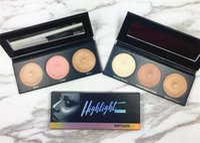 paleta de bálsamo venda por atacado-Beleza vitrificada Balm Palette highlighter shimmer Sombra Em Pó 3 cores Paleta de beleza envidraçada de alta qualidade frete grátis