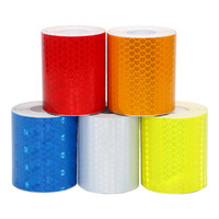 Wholesale rear drive cars online - A126 cm x cm x3M Warning Reflective Tape Car Stickers Driving Safety for Motorcycle Cycling Vehicle Colors Car Styling