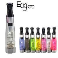 ingrosso vape modello-Ce 4 cartucce di olio vuote per EGO EVOD penna del vaporizzatore 1.6ml Clearomizer di vetro serbatoio stoppini Bobine 510 batteria filo