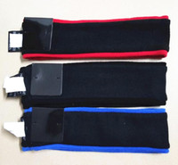 Wholesale black hair falls - Hot Sup headbands fleece Black, Red and Blue 5 color Wool hair band Sweatband