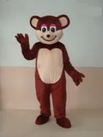 mascotes de urso adulto venda por atacado-EVA Material Capacete Dark brown bear Trajes Da Mascote Filme adereços dos desenhos animados Vestuário Feito Sob Encomenda Tamanho Adulto WS455