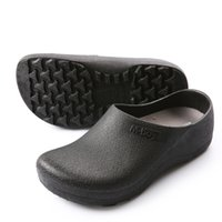 Wholesale Gardening Clogs - 2018 Men's Chef Kitchen Working Slippers Garden Shoes Summer Breathable Beach Flat With Shoes Mules Clogs Men EVA 37-46 Plus