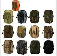 ingrosso portafogli militari-Tactical Holster Military Molle Hip Marsupio universale esterno Portafoglio Pouch Phone Case con cerniera Fanny Pack Pocket 12 colori