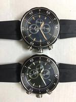 classic watches à venda venda por atacado-Hot sale da moda mens clássico relógio preto grande 50mm dial duas cores pulseira de borracha ponto masculino relógio cronógrafo VK movimento de quartzo relógios