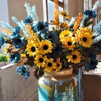 Wholesale beautiful displays - Simulation Daisies Artificial Fake Sun Flower Wedding Ceremony Flowers Decorate Beautiful Rural Style Festive Party Supplies 2 42al bb