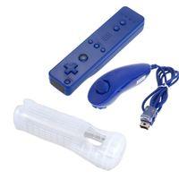 controller nunchuk großhandel-JESBERY 6 Farbe 2in1 Wireless Remote Controller und Nunchuk Controller für Nintendo Wii Controller mit schützenden Silikonhülle