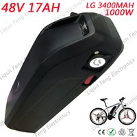 Wholesale battery bicycle kit online - High Capacity Electric Bicycle Down Tube Battery V AH AH W use LG cell Li ion Battery Pack E bike Motor kit EU no tax