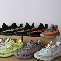 Wholesale oxfords black - Newest 350 V2 V1 designer sneakers Butter Sesame Semi Frozen beluga 2.0 running shoes Oxford Tan pirate black Sneakers