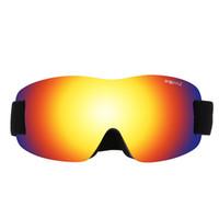 lentes de gafas individuales al por mayor-Single Lens Gafas de esquí Mujeres Hombres A prueba de viento Antiempañamiento Ciclismo Gafas Deportes de nieve Esquí Para el esquí Escalada Ciclismo Snowboard