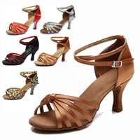 Wholesale dancing shoes green for sale - Group buy Latin Tango Dancing Shoes Women For Girl Ballroom indoor Shoes Discount Brand Shoes Heel Hight cm A