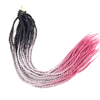 Wholesale senegalese braids for sale - Ombre Crochet Senegalese Twist Brading Hair Inch Three Color Synthetic X Braids Hair Extensions In stock